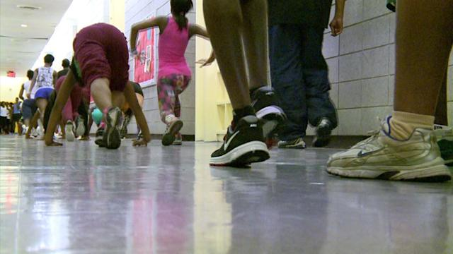 Gym-Less Students Forced To Run In Halls