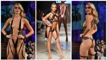 Models shock in duct tape bikinis