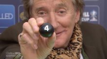 Sir Rod Stewart had a lot of fun during the Scottish Cup draw