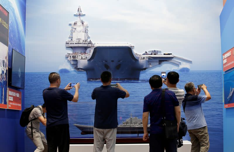 Chinese Carrier Group Conducts Training New Island- Taiwan