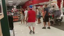 Anti-Mask Demonstrators Gather at Fort Lauderdale Target