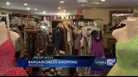 Consignment store provides teens good deal on prom dresses