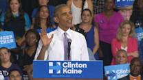 Obama Campaigns for Hillary Clinton in Florida