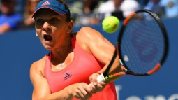 Halep pounds Flipkens to reach U.S. Open second round