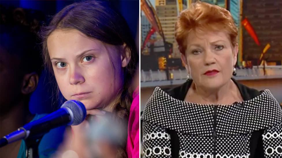 'Not impressed': Pauline Hanson's swipe at climate activist