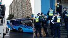 'Like a prison': Melbourne tower residents slam 'unfair' hard virus lockdown