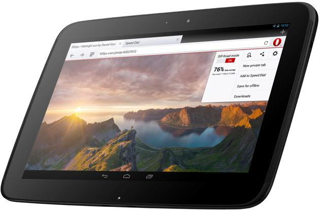 Opera's Android browser gets dedicated support for bigger tablets