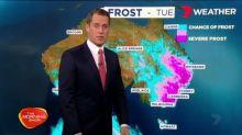 Temperatures plummet across the east coast