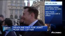Deadline day for joint Elon Musk-SEC letter