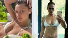 Bella Hadid and Jennifer Lopez love this white-hot bikini — and it's 40% off right now