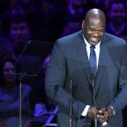 Shaquille O'Neal draws big laughs with 'I in team' story at memorial for Kobe and Gianna Bryant