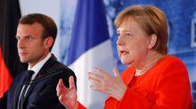 Merkel y Macron quieren un presupuesto común de la eurozona y reforzar las fronteras exteriores
