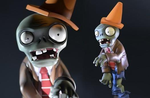 Plants vs. Zombies 'conehead zombie and peashooter' figures are pricey collectibles