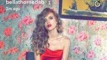 Bella Thorne sube la temperatura de Snapchat