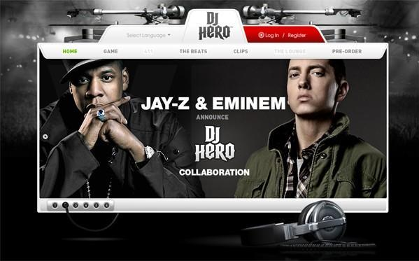 DJ Hero website and pre-orders go live, Jay-Z Special Edition seen in the distance