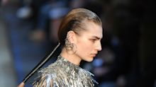 Alexander McQueen Puts a Dramatic Twist on the Classic Ponytail at Paris Fashion Week
