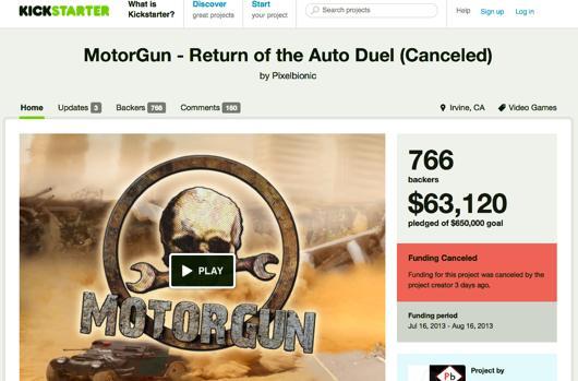 Jaffe-backed MotorGun Kickstarter canceled