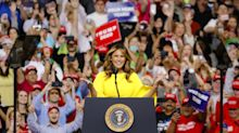 Melania Trump bold in yellow while introducing Donald at re-election campaign