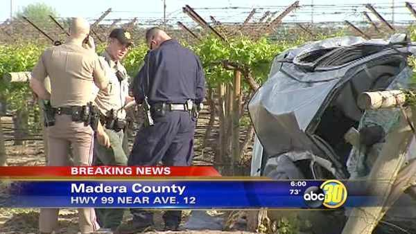 Fatal crash on Hwy 99 near Avenue 12 in Madera Co.