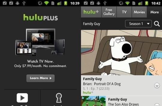 Hulu Plus Android app is now playing on Evo 4G, Thunderbolt, myTouch 4G and G2