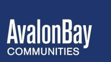 AvalonBay Communities Announces Third Quarter 2020 Earnings Release Date