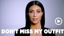 Kim Kardashian's Superbowl PSA: Don't Miss My Outfits