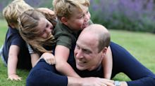 Prince William shares sweet moment with his three kids in new birthday photos - taken by Kate