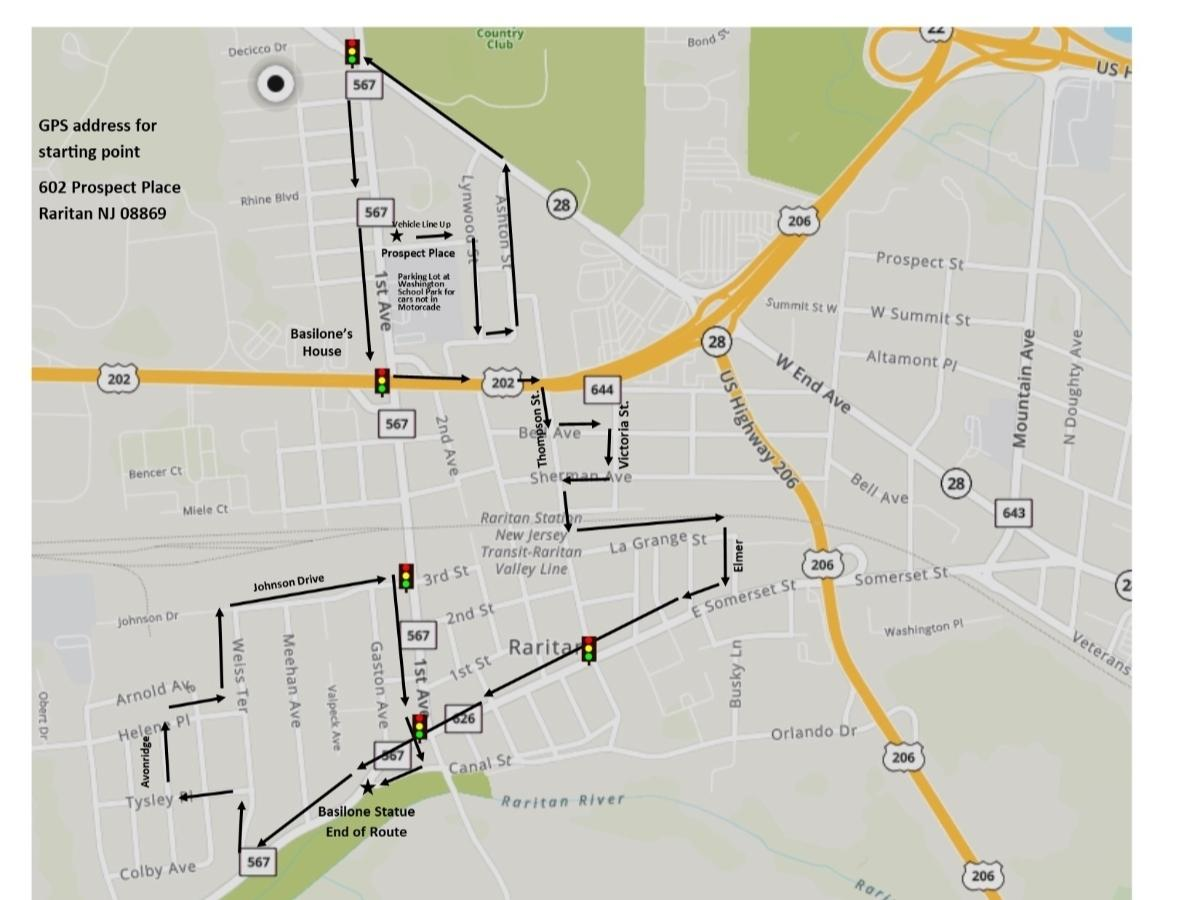 The motorcade route has been released.