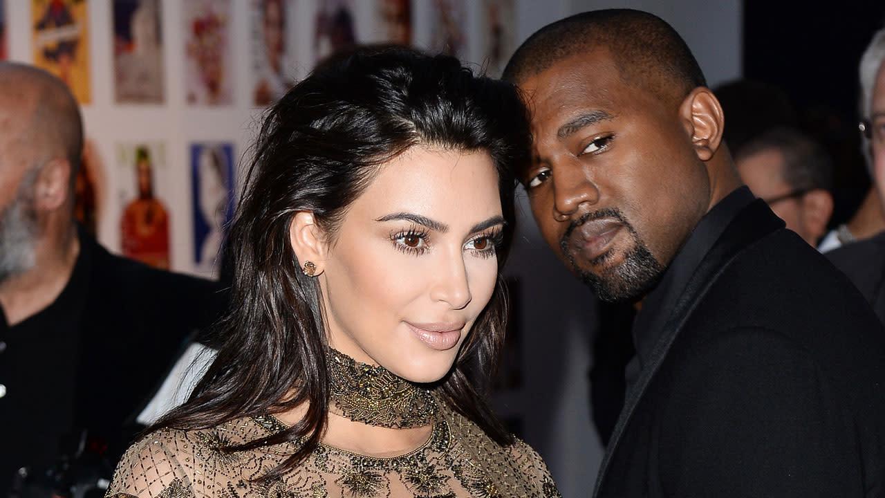 kim kardashian face swaps with north saint as kanye west