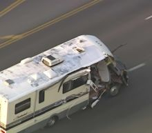 Wild chase of stolen RV ends with injuries in Los Angeles