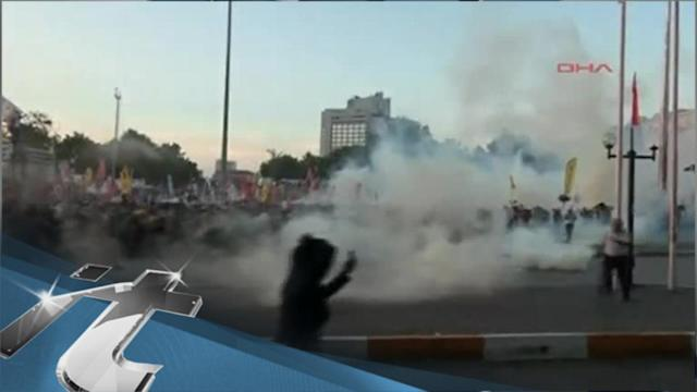 War & Conflict Breaking News: Riot Police Advance on Protesters in Istanbul Park
