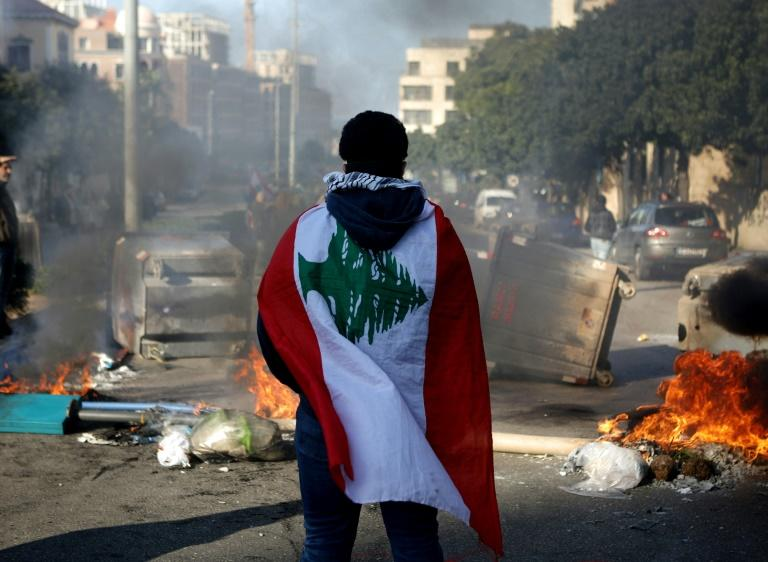 Lebanon has been beset by street protests as it has grappled with its worst economic crisis since the 1975-1990 civil war (AFP Photo/PATRICK BAZ)