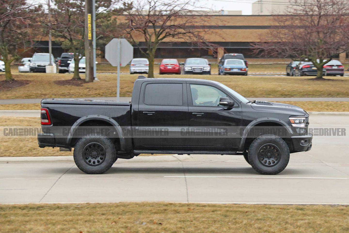 """<p>Its status as future production mode was hinted at during <a href=""""https://www.caranddriver.com/news/a21050011/the-ram-trx-high-performance-truck-is-happening-for-real/"""" rel=""""nofollow noopener"""" target=""""_blank"""" data-ylk=""""slk:FCA's 2018 five-year presentation plan"""" class=""""link rapid-noclick-resp"""">FCA's 2018 five-year presentation plan</a>, and reviewing the plan in detail filled in enough holes for us to consider the TRX a done deal.</p>"""