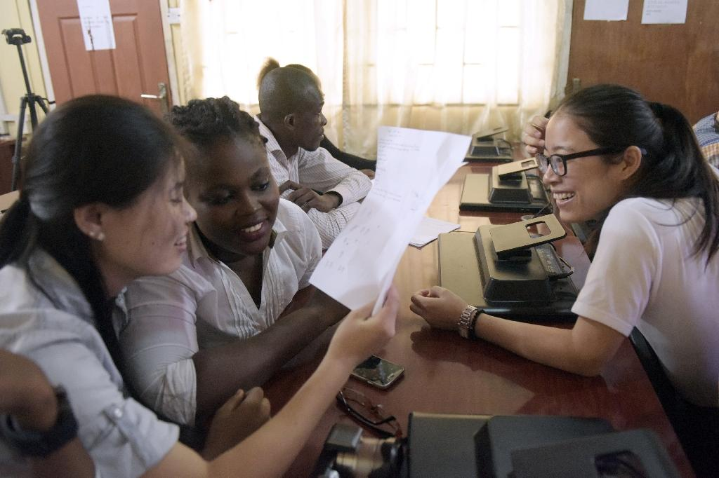 China has established a growing network of Confucius Institutes -- like this one in Nigeria -- around the world as part of a push to develop its soft power (AFP Photo/PIUS UTOMI EKPEI)