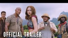 New 'Jumanji: Welcome to the Jungle' trailer: Kevin Hart rides an elephant — and Dwayne Johnson — through a video-game adventure