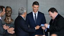 Cristiano Ronaldo Airport arrives as bizarre bust is unveiled at ceremony