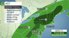Weather whiplash to bring warmup, heavy rain and flood threat followed by Arctic blast to Northeast