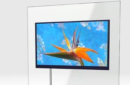 Sharp's 52-inch LCD TV prototype: Just 1.1-inches thick!