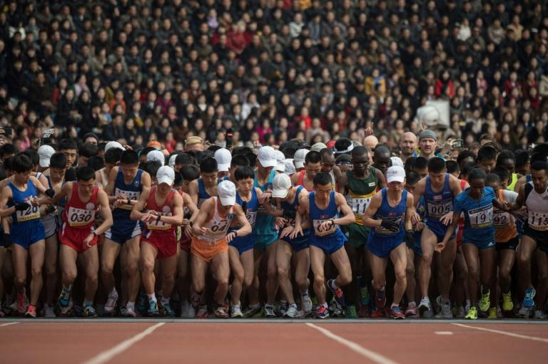 The Pyongyang marathon is held as part of annual celebrations