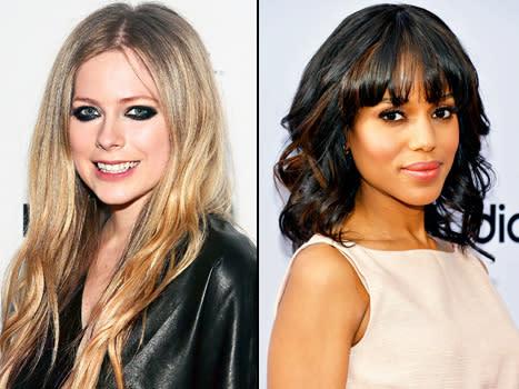 Avril Lavigne Wears a Black Wedding Dress; Kerry Washington Marries ...