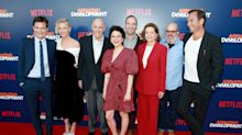 Jeffrey Tambor's 'Arrested Development' co-stars have his back at his first appearance since 'Transparent' firing