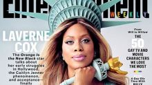 "Laverne Cox Shines Bright As Lady Liberty On the Cover of ""Entertainment Weekly"""