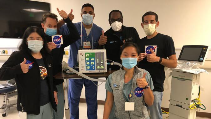 NASA JPL's VITAL Covid-19 ventilator team