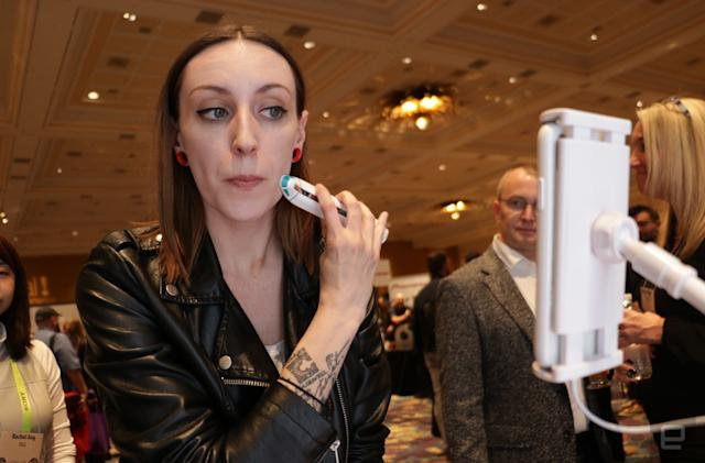 Olay's electromagnetic face wand turns skincare into a mobile game