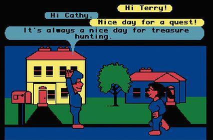 Did LucasArts invent the avatar-based virtual world in 1985?