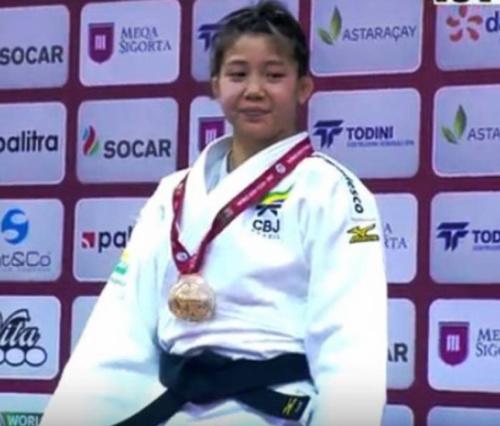 Judô: Stefannie Koyama conquista o ouro no Grand Slam de Baku