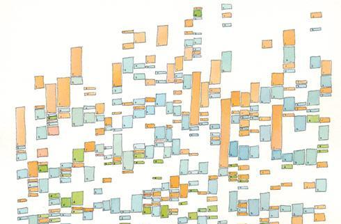 Visualized: life's most basic patterns displayed as color-coded charts