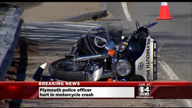 Plymouth Police Officer Injured In Motorcycle Crash