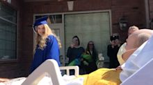 School grants dad's dying wish to see daughter graduate by holding mock graduation ceremony