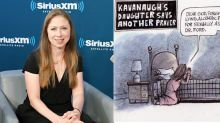 Chelsea Clinton tweets 'Please leave Judge Kavanaugh's daughters alone' after controversial cartoon